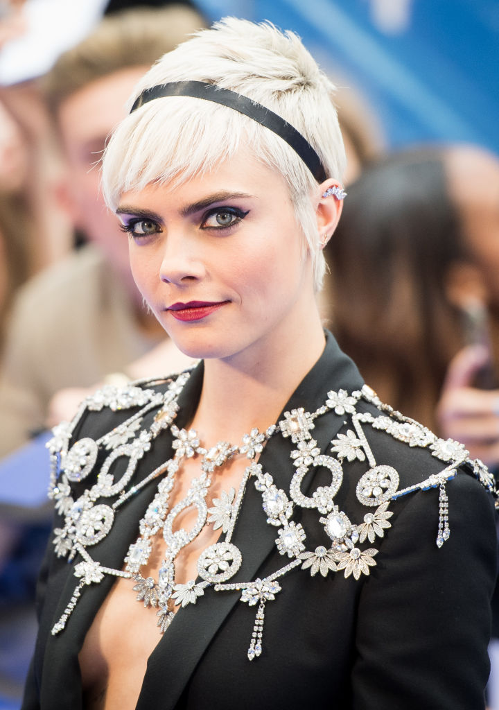 Layered Pixie Cut Cara Delevingne Hair See Her Best Hairstyles And Beauty