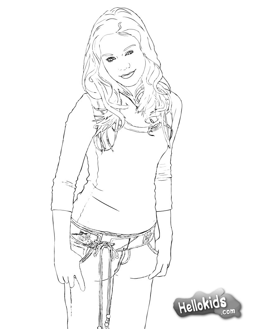 Vanessa coloring page