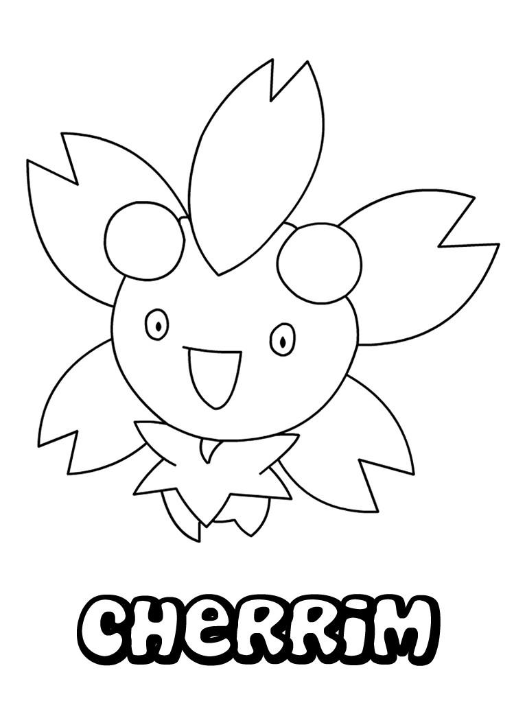 Cherrim pokemon coloring page