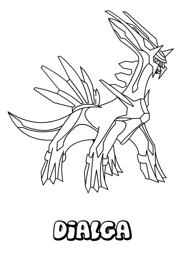 Dialga pokemon coloring page