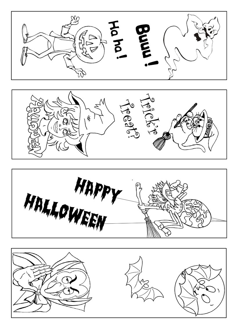 Halloween bookmarks 3 free bookmarks for kids to print and cut out