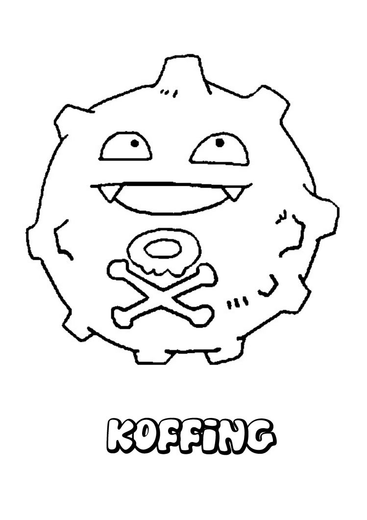Koffing pokemon coloring page