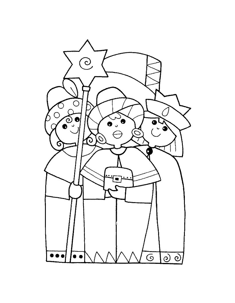 Feast of epiphany coloring page