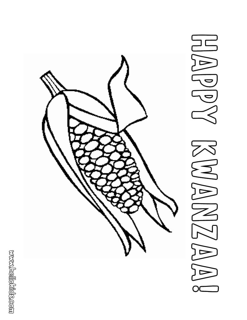 Free Coloring Pages Kwanzaa
