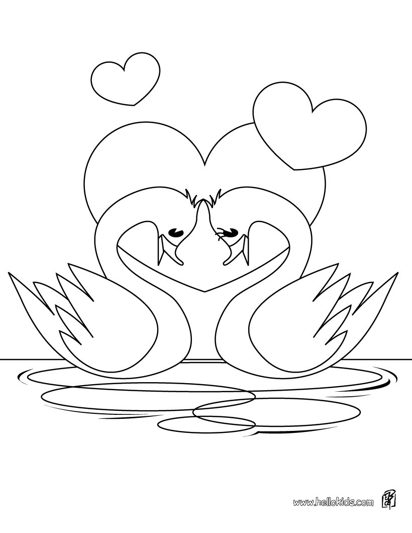 coloring pages love