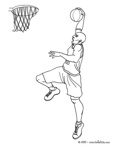 Basketball  Coloring pages, Free Online Games, Videos for kids