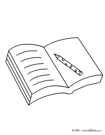 Open book coloring pages - Hellokids - open book coloring pages
