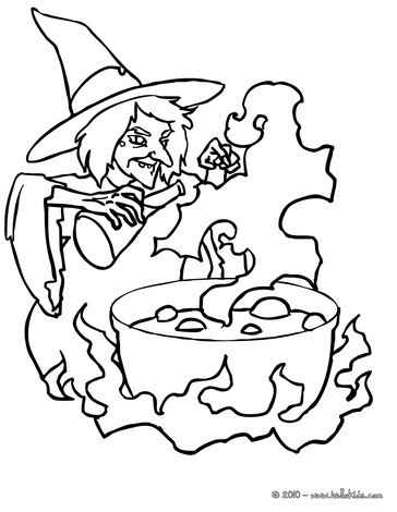 WITCH coloring pages - 67 printables to color online for Halloween