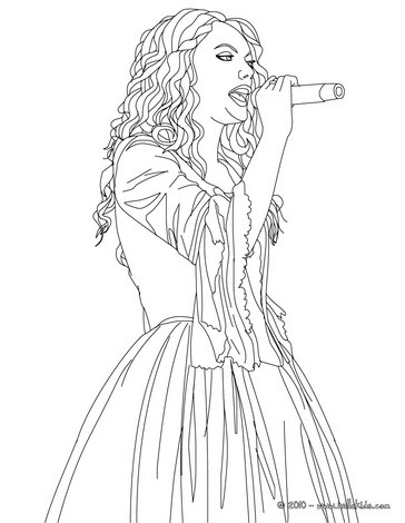 Taylor swift famoust singer coloring pages - Hellokids