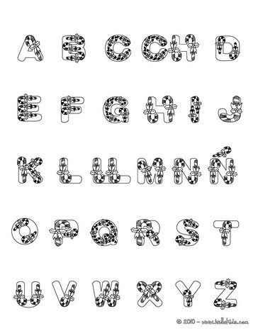 SPANISH ALPHABET coloring pages - Coloring pages - Printable - alphabet in spanish