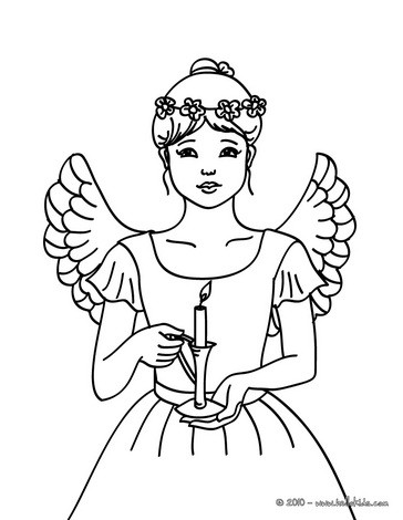 CHRISTMAS ANGELS coloring pages - 17 Xmas online coloring books and