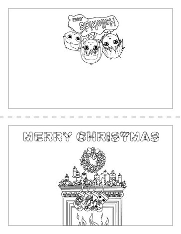 MERRY CHRISTMAS Cards coloring pages - Free printables for kids to - free printable christmas card maker