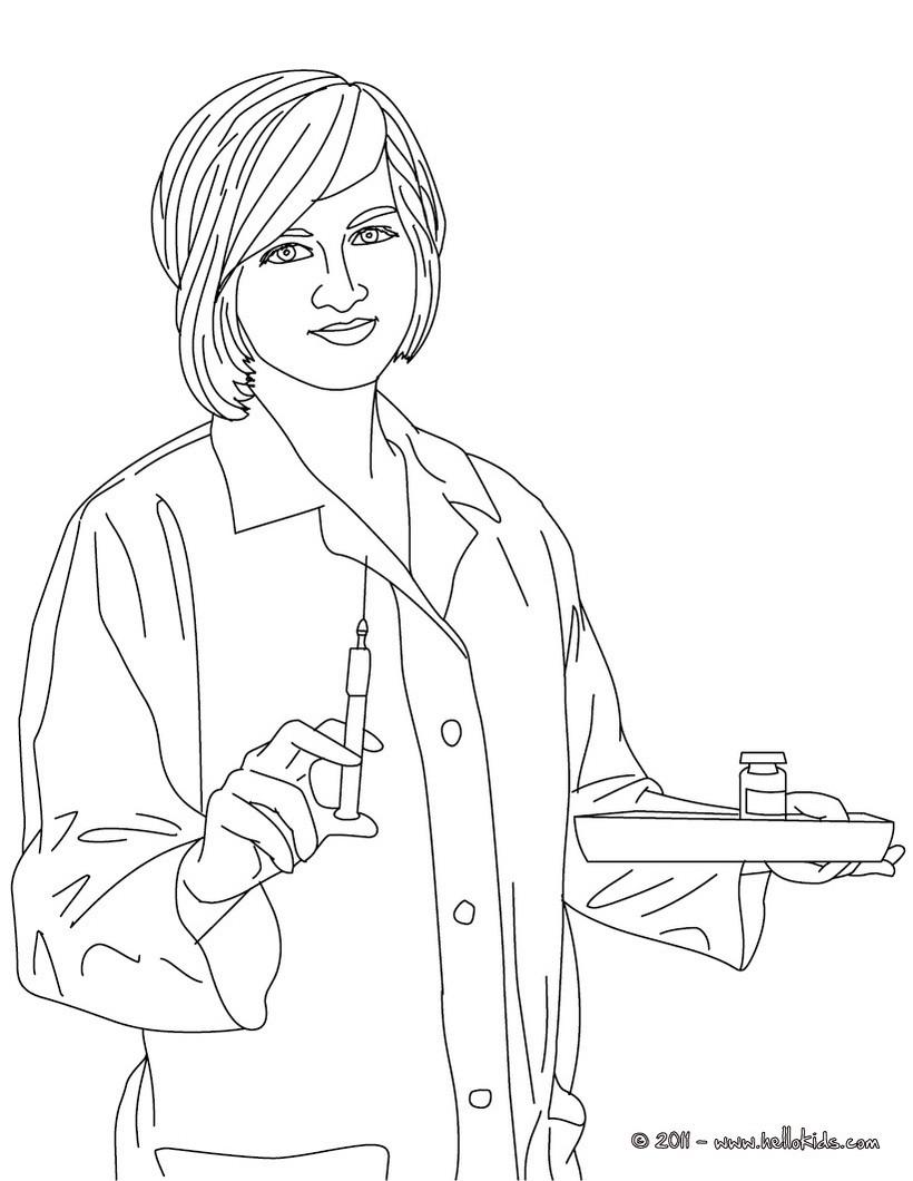 Coloring Pages Nurse