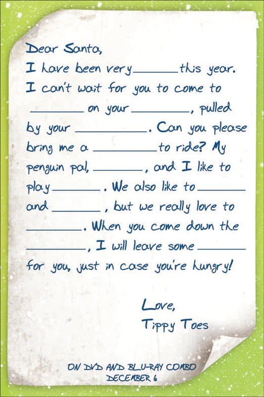 Mr popper christmas letter template to santa online games