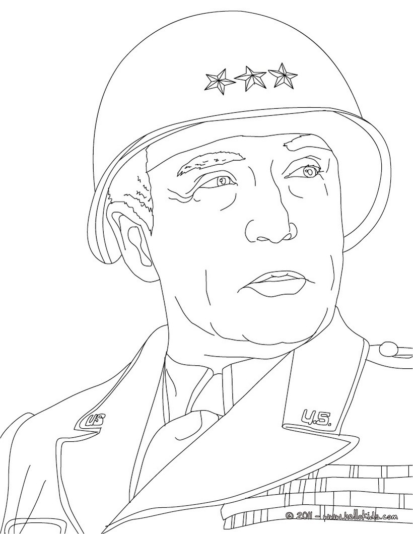 General george patton coloring page coloring page famous people coloring pages famous american