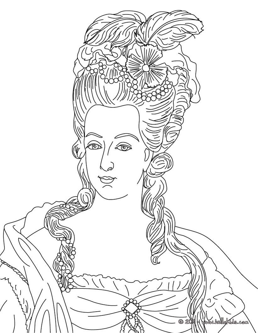 Coloring pages queen elizabeth