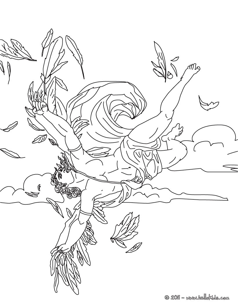 Myth of icarus coloring page coloring page countries coloring pages greece coloring pages