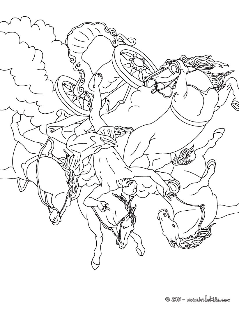 Theseus and the minotaur phaeton and the chariot of the sun coloring page coloring page countries coloring pages