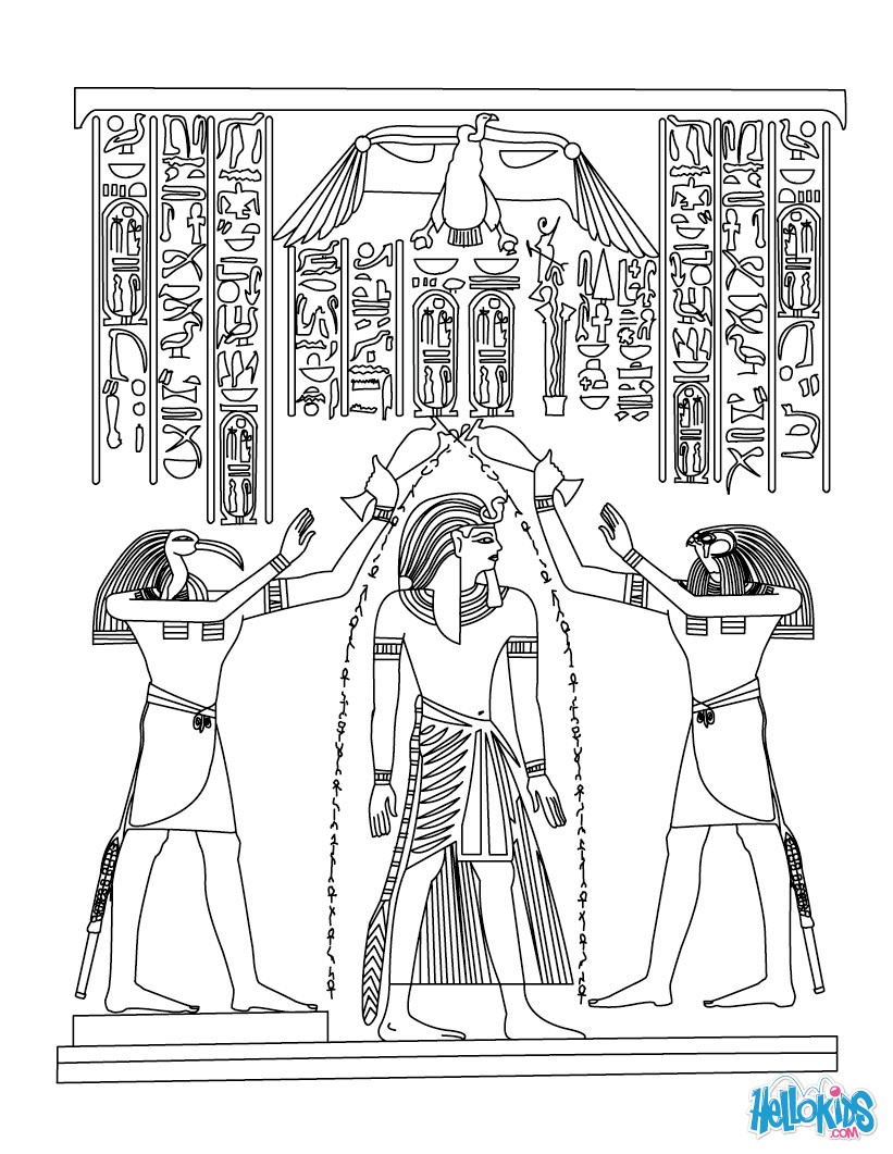 Egyptian papyrus painting to color in coloring page countries coloring pages egypt coloring