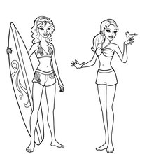 Merliah and zuma best friend forever coloring pages