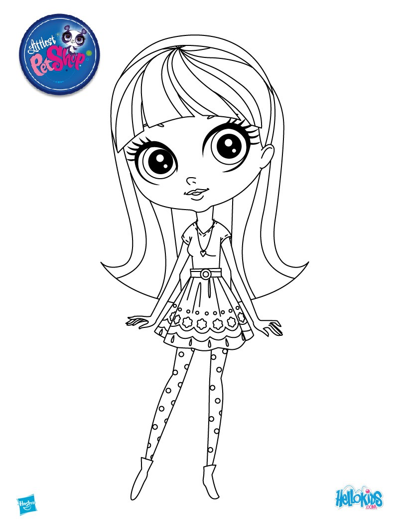 Blythe from littlest pet shop blythe baxter online coloring page coloring page girl coloring pages littlest pet shop