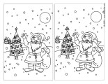 Christmas Spot The Difference Games Printable