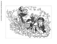 Hermione with harry coloring pages - Hellokids.com