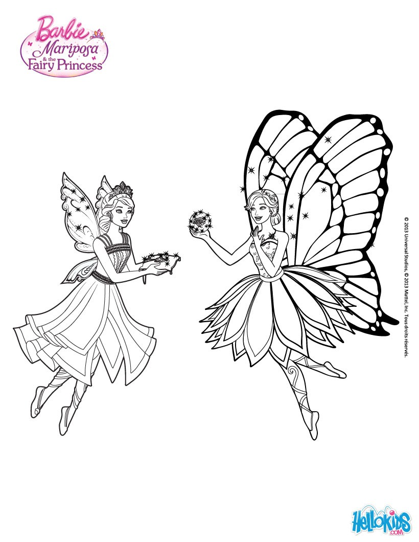 73 Coloring Pages Barbie Mariposa