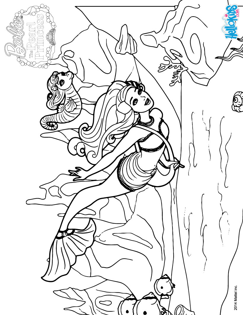 Barbie Pearl Princess Coloring Pages - Eskayalitim