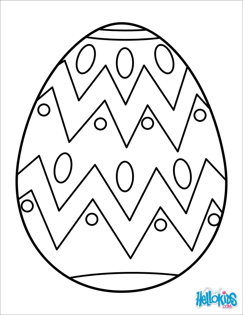 Decorative easter egg painted easter egg coloring page