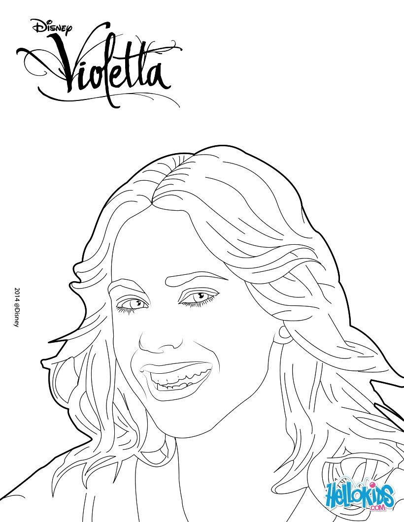 Violetta coloring page color online print