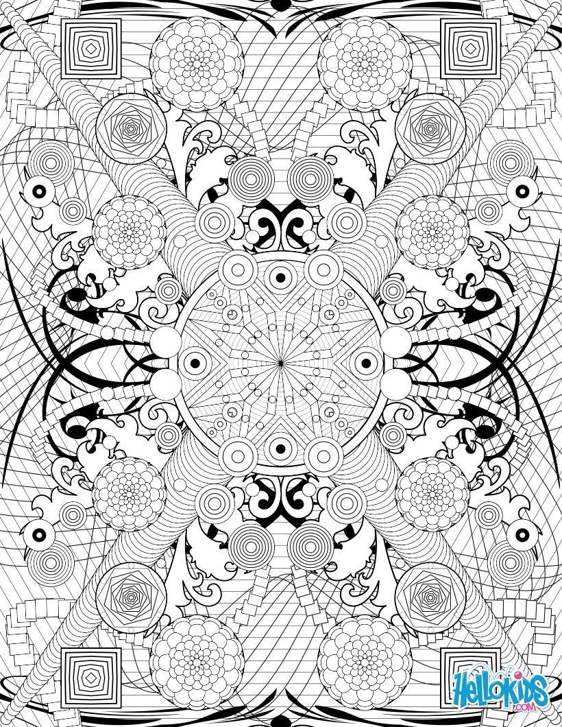 Rosette intricate patterns worksheet