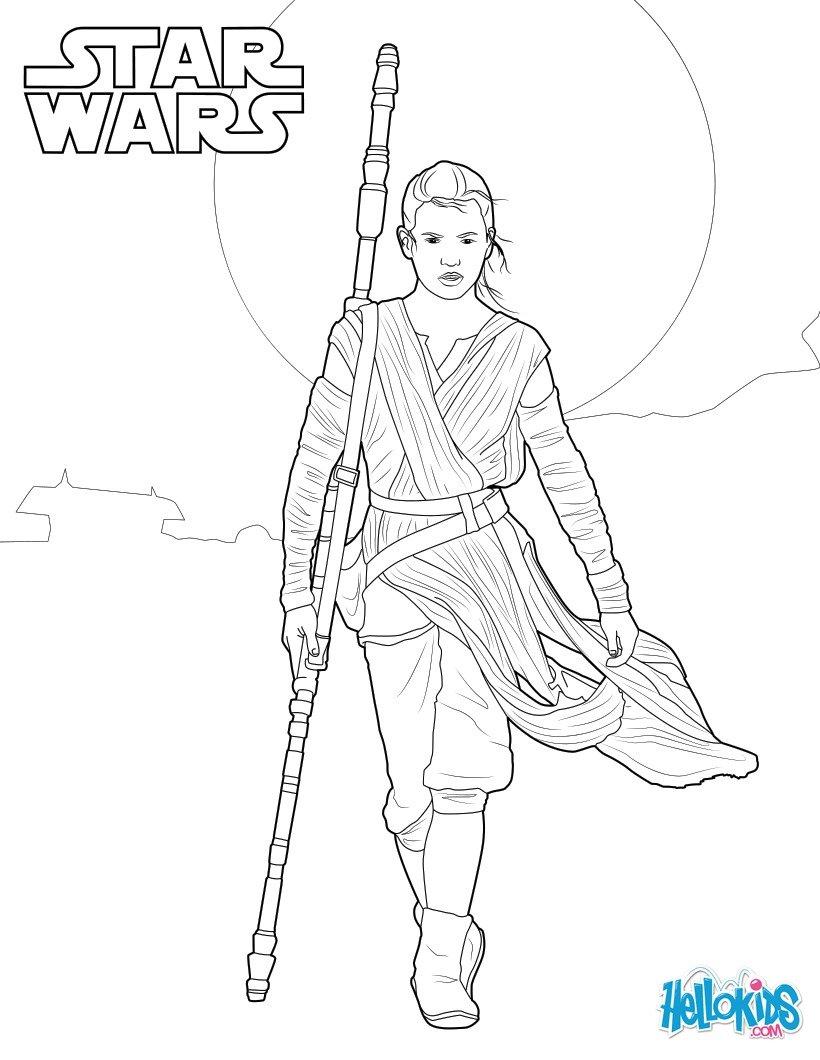 Star wars stormtrooper star wars rey coloring page