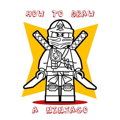 How to draw how to draw a lego ninjago ninja - Hellokids