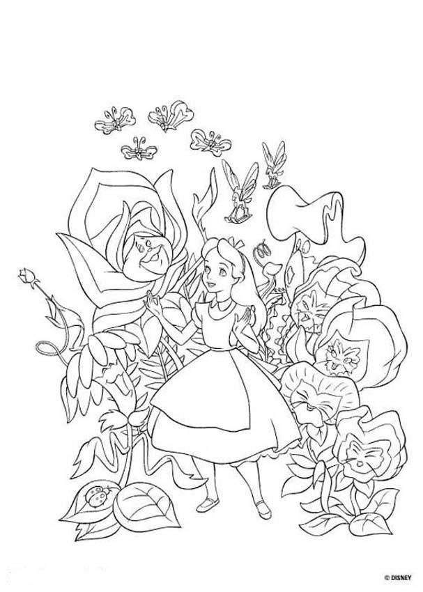 Alice in Wonderland coloring pages - 18 free Disney printables for