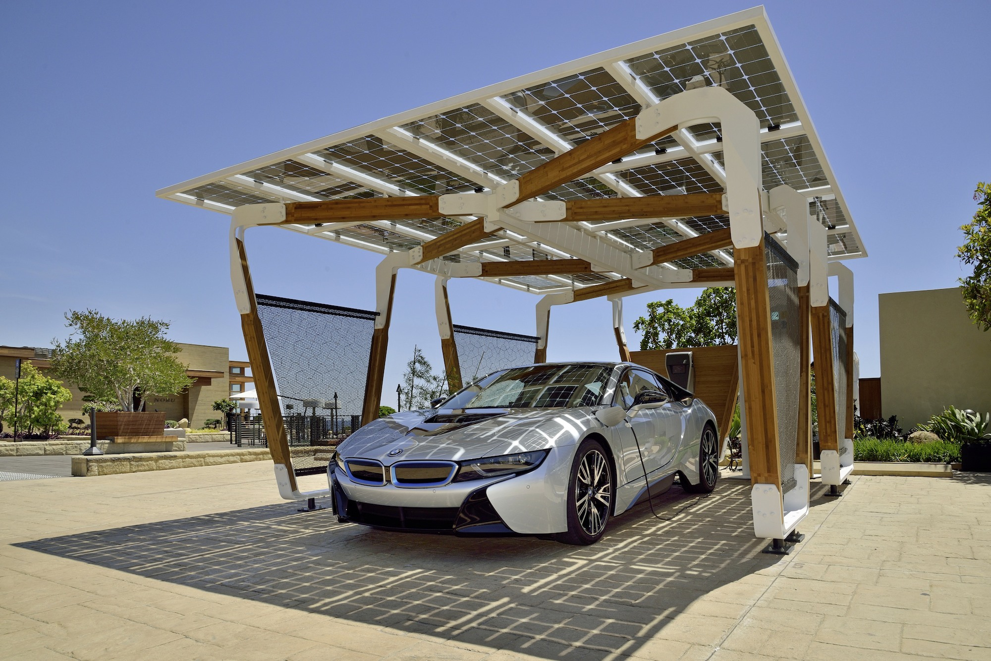 Karpot Bmw Solar Charging Carport Concept Is Stunning Functional Art