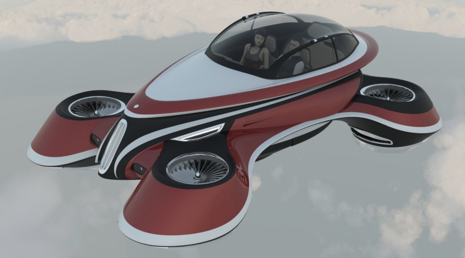Italian Design Vw Italian Firm Lazzarini Design Shows Retro Flying Car Concept