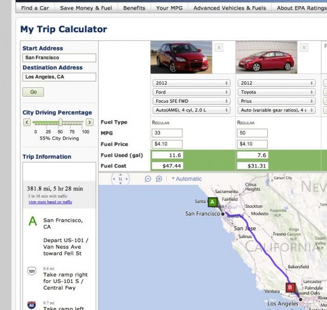 Planning A Trip? EPA\u0027s Fuel Calculator Predicts Your Gas Bill