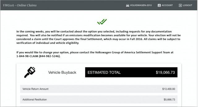 Vw Buyback Program New Car Models 2019 2020