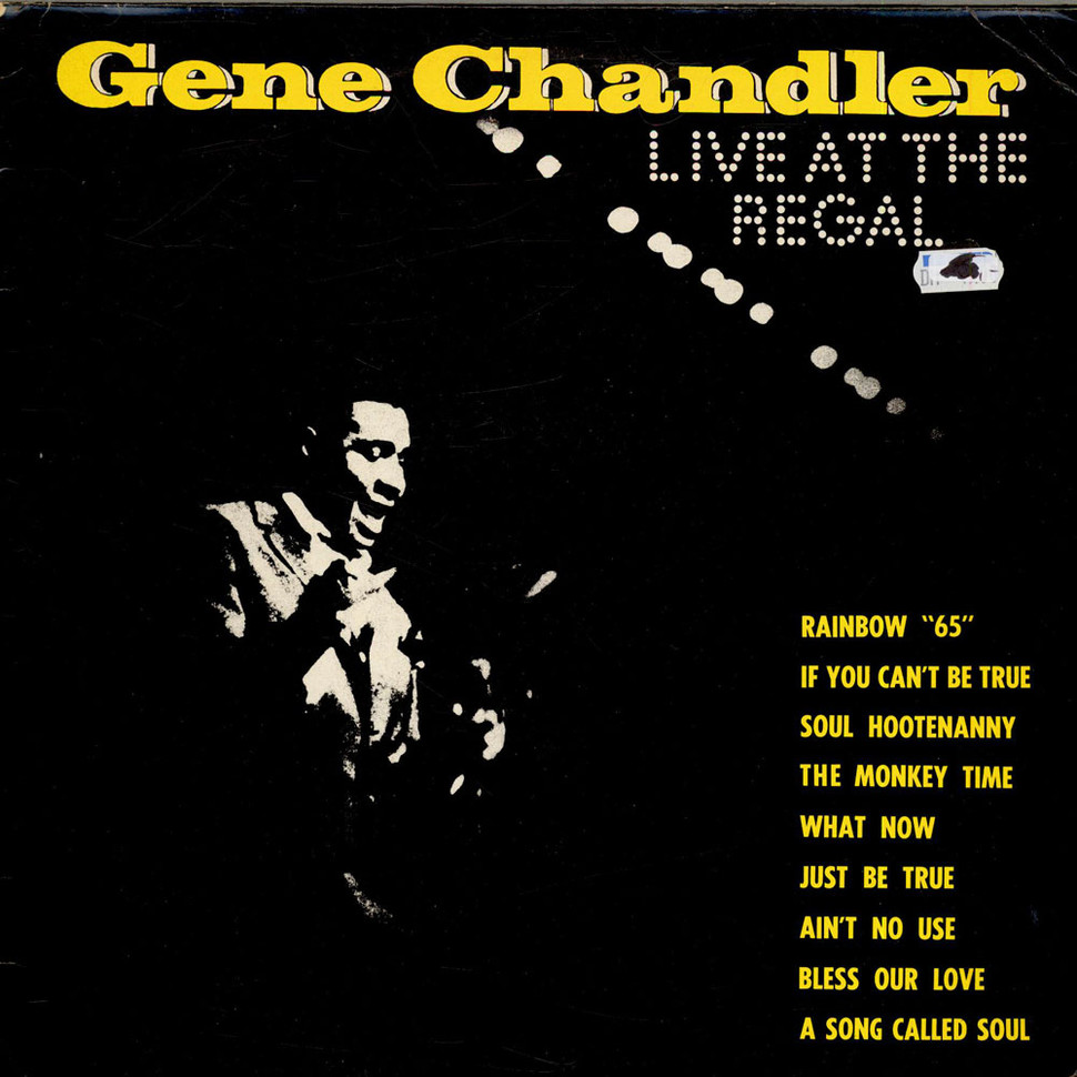 Lp Regal Gene Chandler Live At The Regal