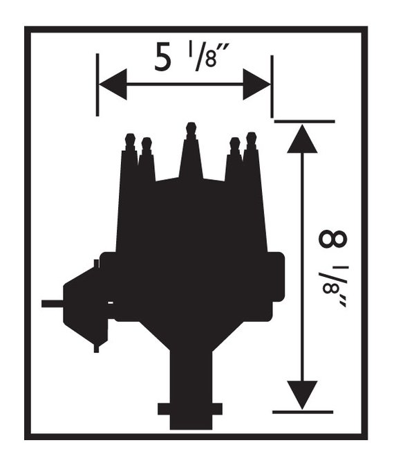 MSD 8360 Chevy V8 w/Internal Module Distributor