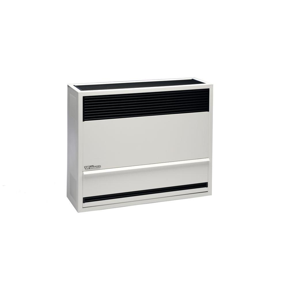 Garage Heater With Wall Thermostat Williams 30 000 Btu Direct Vent Natural Gas Furnace Heater With Wall Or Cabinet Mounted Thermostat
