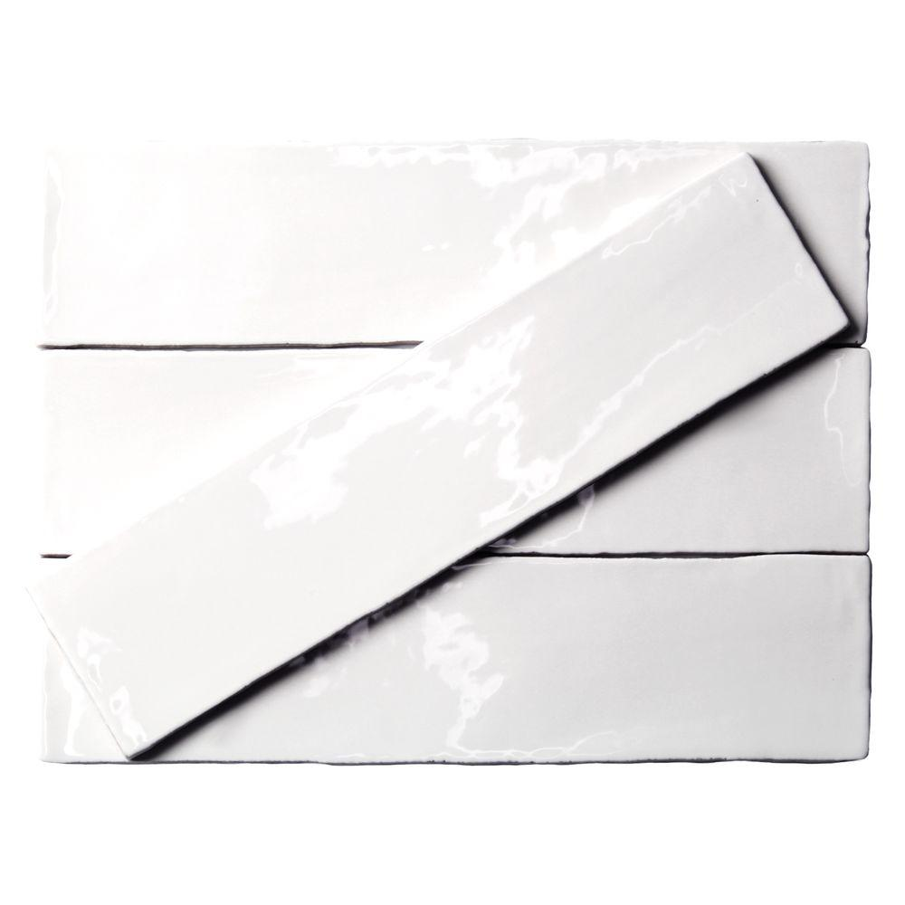 8 Mm Ivy Hill Tile Catalina White 3 In X 12 In X 8 Mm Ceramic Wall Subway Tile
