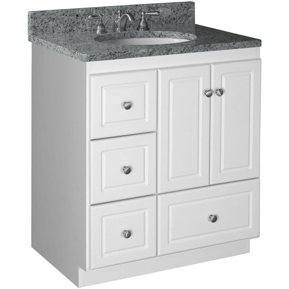 30 Vanity With Drawers Simplicity By Strasser Ultraline 30 In W X 21 In D X 34 5 In H Vanity With Left Drawers Cabinet Only In Satin White