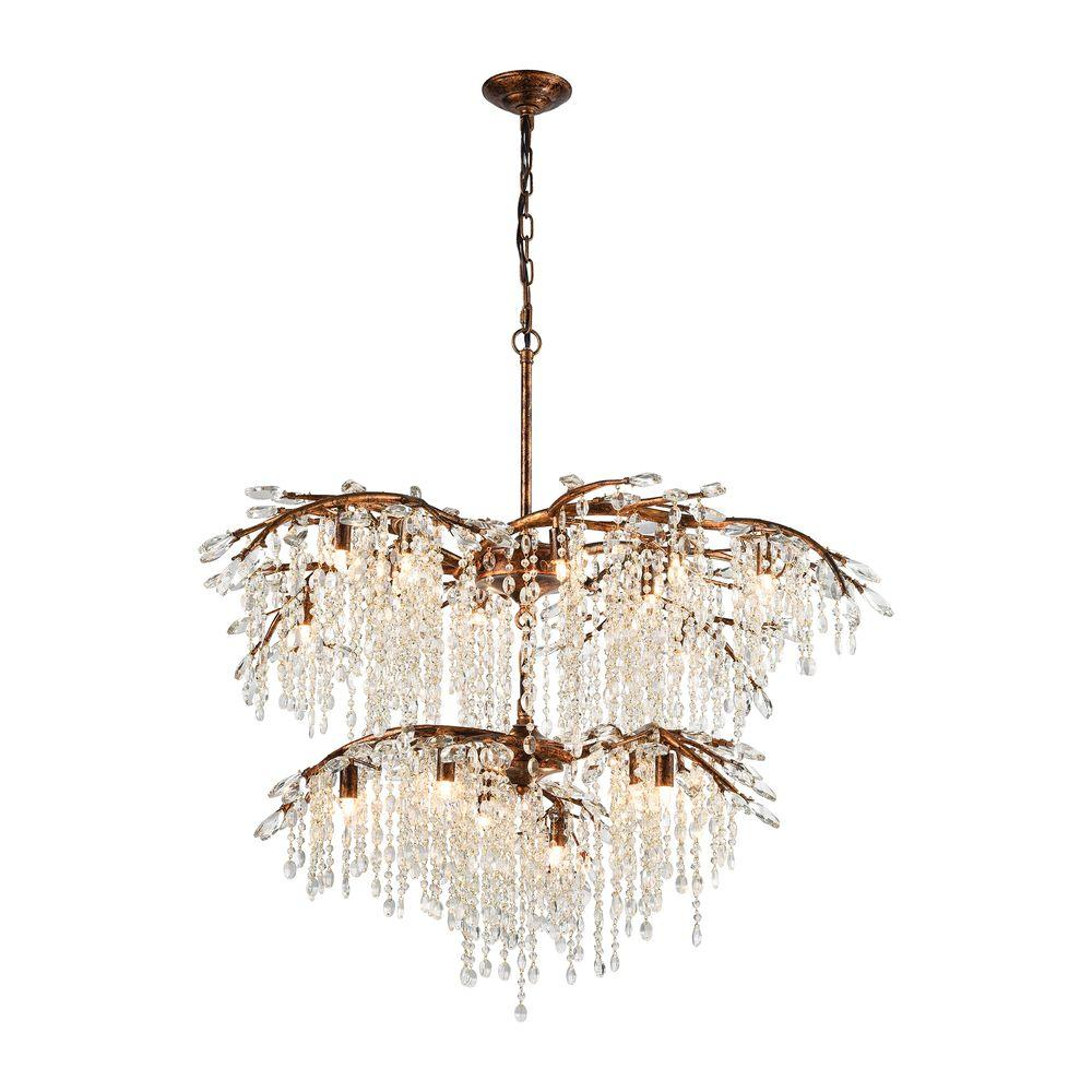 Spanish Chandelier Titan Lighting Elia 18 Light Spanish Bronze Chandelier With Metal And Crystal