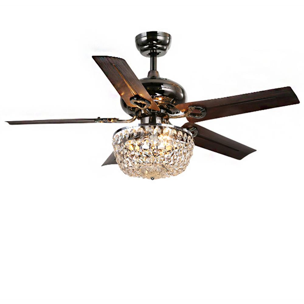Rustic Ceiling Fan Light Fixtures Warehouse Of Tiffany Angel 43 In Indoor Bronze 5 Blade Crystal Chandelier Ceiling Fan With Light Kit