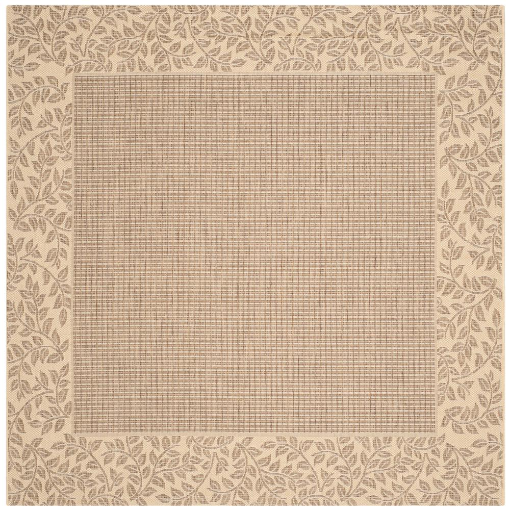 Safavieh Courtyard Safavieh Courtyard Brown Natural 7 Ft X 7 Ft Indoor Outdoor Square Area Rug