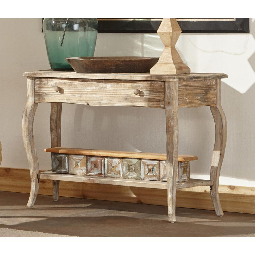 Console De Table Alaterre Furniture Rustic Driftwood Storage Console Table