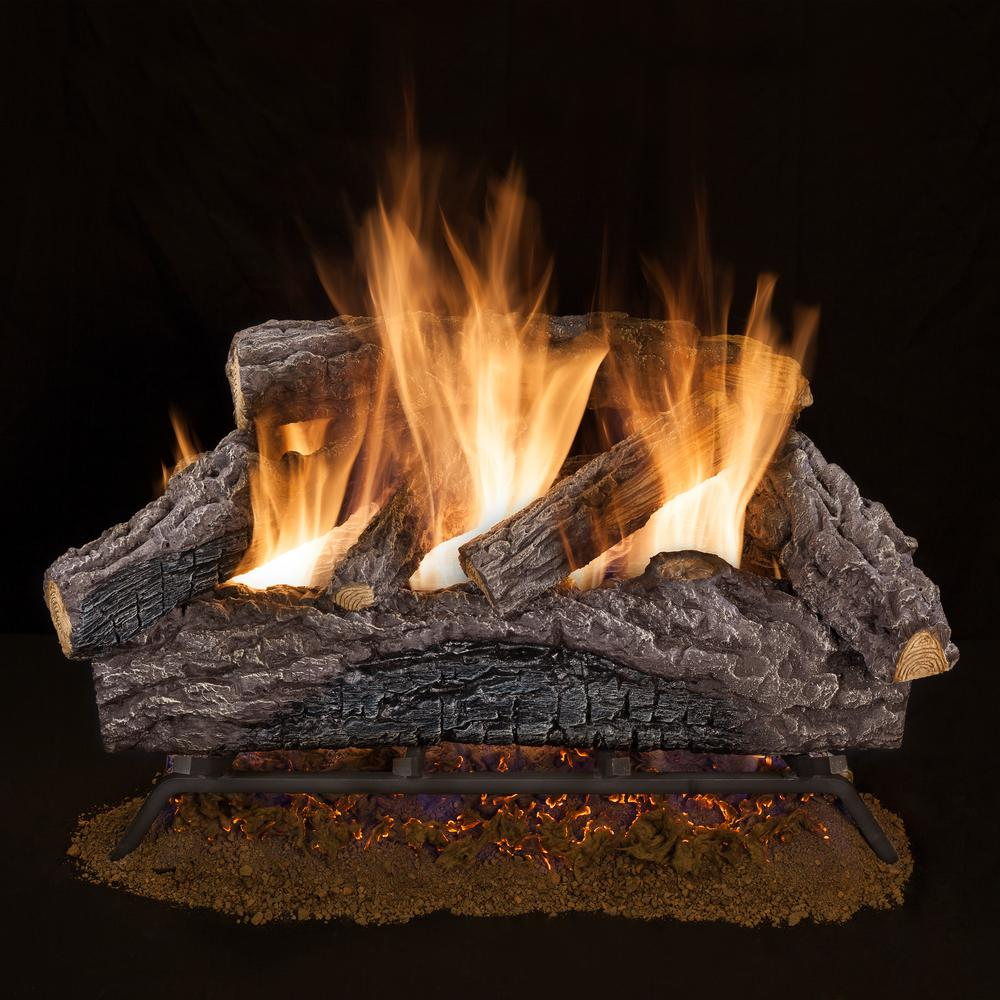 How Much Do Gas Fireplace Logs Cost Emberglow 18 In Charred River Oak Vented Natural Gas Log Set