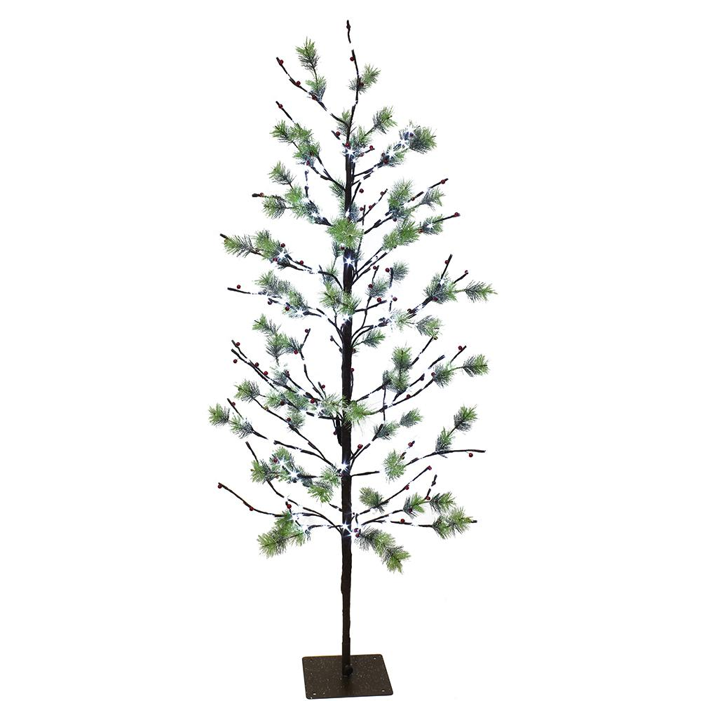 Lit En 200 Puleo International 5 Ft Pre Lit Twig Tree With 200 White Led Twinkle Lights